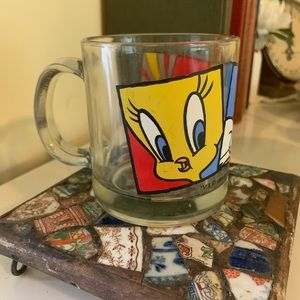 Vintage 1994 Looney Tunes Clear Mug